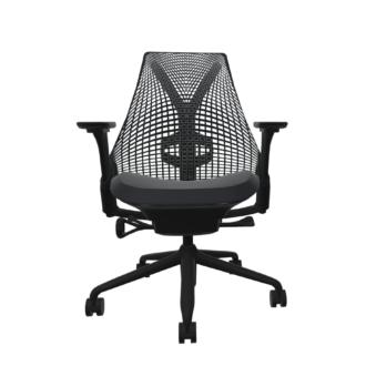 Sayl Task Chair, Black Frame, Studio White, Black