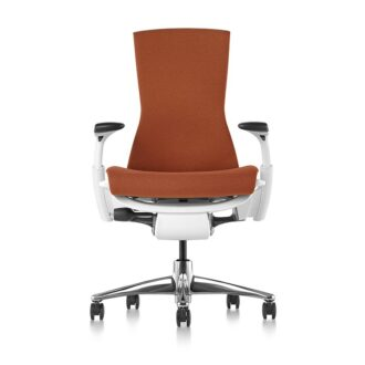 Embody Chair, Polished Alum., White, Medley